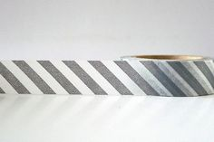 Diagonal Gray Washi Tape