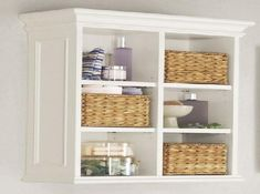 Trendy Bathroom Storage Cabinet Over Toilet Pottery Barn 17 Ideas Shelves, Wall Cabinet, Bathroom Wall Cabinets, Shelving, Bathroom Furniture, Wall Storage, Home Decor, Bathroom Storage, Wall Shelving Units