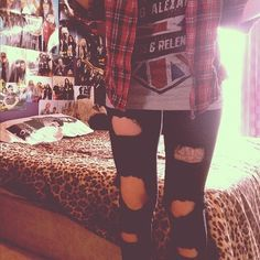 Band Outfits Tumblr | Fashion Maniac: Band T-shirt « Read Less