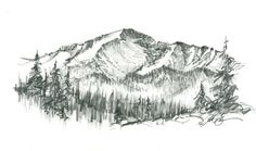 Pikes peak pencil drawing - possible ankle tattoo?