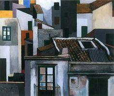 """Renato Guttuso """"Case di Palermo"""" 1976"""