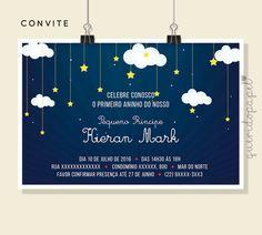 Convite Pequeno Príncipe, Festa Pequeno Príncipe, Convite Céu