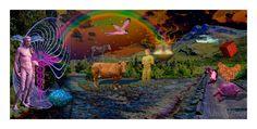 Lucid Dreaming, Cattle, Surrealism, Hermes, Moose Art, Animals, Painting, Gado Gado, Animales
