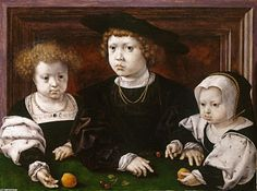 Portrait of Dorothy, John and Christina of Denmark, by Jan Gossaert.