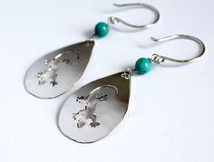 Gecko earrings by SHENY