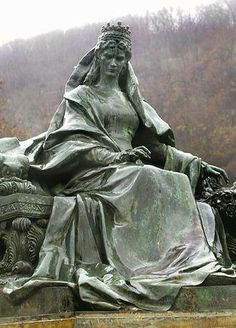 Statue of Empress Elisabeth of Austria (Sisi, due to the movie also known now as Sissi, Ancient History, Art History, Austria, Die Habsburger, Monuments, Empress Sissi, Cemetery Statues, Budapest, Austro Hungarian