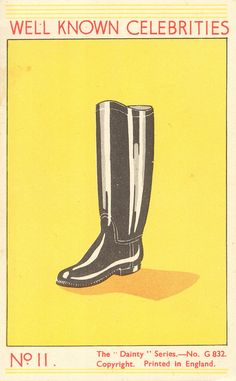 The celebrated boot...