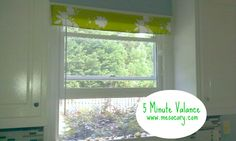 5-minute Window Valance (No Skill/ No Sew Part II). I am definitely doing this, too excited over curtains