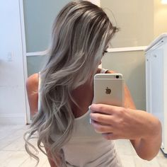 Fresh silver and highlights by the incredible  @hairbynamrood  I always leave our appointments with the sickest color, style and softness  I try to curl my hair like her and it just doesn't happen. #hairbynamrood #akahairgodESS