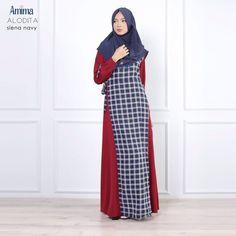 Gamis Amima Alodita Dress Siena Navy - baju muslim wanita baju muslimah Untukmu yg cantik syari dan trendy . . Size: S ---> 94   137 M ---> 100  140 L ---> 106   140 . . Material bahan : - Material bahan : crepe polos  woolpeach pattern Nyaman digunakan seharian bahannya jatuh dan flowy - OFFICE dan DAILY dress dengan 2 warna kontras yang simpel dan cutting line menarik memberikan kesan #slim/kurus. - Bagian badan dress pattern dengan bukaan zipper depan #busuifriendly dengan manset tangan…