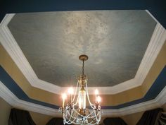 Tri-colored Lusterstone Tray Ceiling