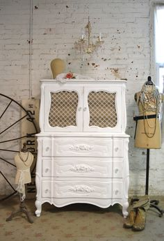 Painted Cottage Chic Shabby French Dresser [CH812] - $595.00 : The Painted Cottage, Vintage Painted Furniture