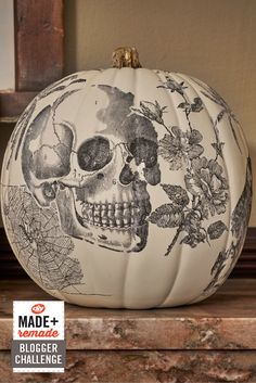 DIY Network Pumpkin Challenge: Spooky Skull Image Transfer Pumpkin >> http://www.diynetwork.com/made-and-remade/make-it/pumpkin-challenge-old-school-image-transfer-pumpkin?soc=pinterest @michaelsstores #MadeWithMichaels
