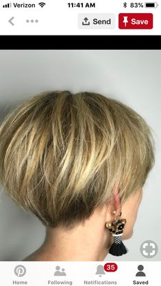 Gray Wigs African Americans Black Hair To White Hair Shampoo To Take Away Grey Hair - Hair - Haare und Make-up Pixie Bob Haircut, Short Pixie Haircuts, Short Hairstyles For Women, Hairstyles Haircuts, Haircut Short, Pixie Bob Hairstyles, Undercut Short Bob, Short Stacked Bob Haircuts, Bob Style Haircuts