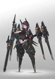 Female Character Design, Character Design Inspiration, Character Concept, Character Art, Cyberpunk Character, Cyberpunk Art, Robot Concept Art, Armor Concept, Robot Girl