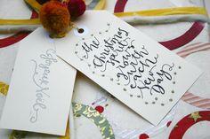Free Printable Christmas Calligraphy Tags