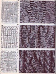 "Best 11 The book crochet patterns"" / 285 photos / . Discussion on LiveInternet – Russian Service Online Diaries – SkillOfKing. Crochet Cable Stitch, Crochet Stitches Patterns, Knitting Stitches, Stitch Patterns, Knitting Patterns, Crochet Diagram, Crochet Chart, Crochet Motif, Knit Crochet"