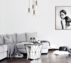 A grayed out minimalist room. Simple & chic