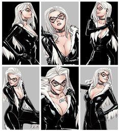Spiderman Black Cat, Black Cat Marvel, Black Cat Comics, Black Cat Art, Ford Gt, Female Superheroes And Villains, Pikachu Tattoo, Dc Comics Girls, Marvel Tattoos