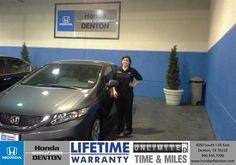 Congratulations to Taryn Petersen on your #Honda #Civic purchase from Derek Clarkson at Honda of Denton! #NewCar