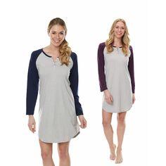 """Softies by Paddi Murphy 36"""" Baseball Long Sleeve Shirt - Softies by Paddi Murphy - Gowns & Pajamas - Sleepwear"""