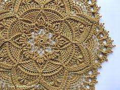 Ravelry: Greta pattern by Zoya Matyushenko Our Favorite Napkins Crochet Motif, Crochet Doilies, Crochet Lace, Crochet Stitches, Doily Patterns, Knitting Patterns, Crochet Patterns, Crochet Table Topper, Fillet Crochet