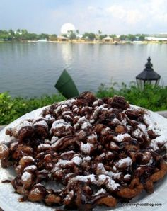 Double Chocolate Funnel Cake at Epcot& America Pavilion - Disney Snacks - Carnival Food, Disney World Food, Disney Snacks, Disney Dining, Tea Cakes, Book Cakes, Cake Flavors, Ber, Epcot