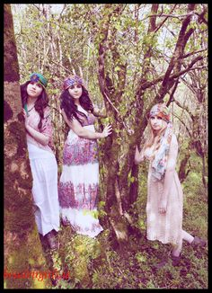 Boho Hen Party Friends Shoot Forest Glamping Makeup