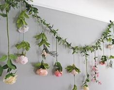 Backdrop of hanging flowers, wedding flower garland, wedding ceremony backdrop, silk flower garland, wedding flower wall Flower Garland Wedding, Paper Flower Garlands, Wedding Ceremony Backdrop, Paper Flower Backdrop, Floral Garland, Paper Flowers, Wedding Flowers, Paper Peonies, Hanging Flower Wall