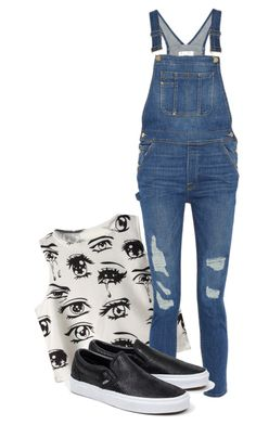 """""""Sem título #492"""" by rain-478 ❤ liked on Polyvore featuring Chicnova Fashion, Frame Denim and Vans"""