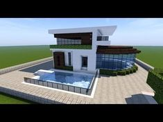 here Minecraft building tutorials on how to build modern and small survival style houses! Gaming Entertainer - Main Focus is Minecraft Tutoria. Villa Minecraft, Lego Minecraft, Minecraft World, Architecture Minecraft, Plans Minecraft, Construction Minecraft, Youtube Minecraft, Modern Minecraft Houses, Minecraft House Tutorials