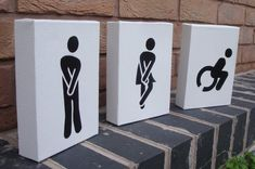 Funny Toilet / Restroom / WC Signs 3 Canvas by Ramart79 on Etsy