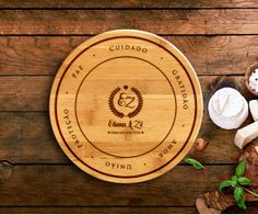 Tábua de Bambu Redonda Personalizada 375