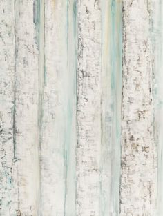 """""""Turquoise Birch"""" Acrylic, silver leaf and resin on canvas, 30""""w x 40""""h, $960"""
