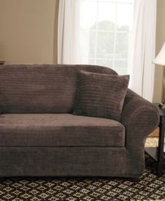 sure fit textured linen loveseat slipcover blue products pinterest loveseat slipcovers and products