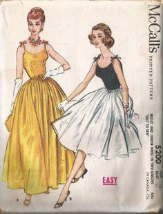 Vintage 50's Full Skirt DRESS Sewing Pattern by thepatternvault, $45.00