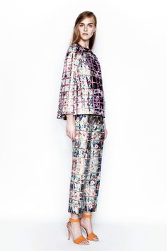 Flowers in your suit by Mary Katrantzou | Resort 2014 Collection | Style.com