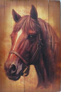 Western Cabin Rustic Decor Horse Head Bust Wood Plank Picture Hanging Wall Art | eBay