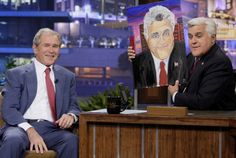 Former American President George W Bush On Jay Leno - Part 2 Presidents Wives, American Presidents, George W Bush Art, Bush Family, Laura Bush, Saatchi Gallery, Time Painting, Tonight Show, Exhibition