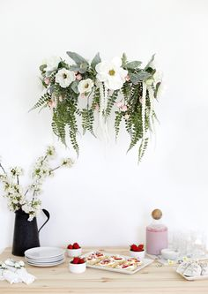 DIY Floral Chandelie