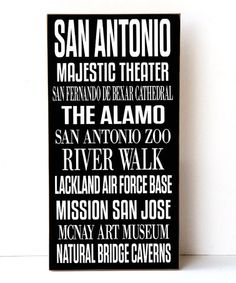 Loving this San Antonio Subway Wall Sign on #zulily! #zulilyfinds