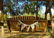 Bunting banner I stenciled