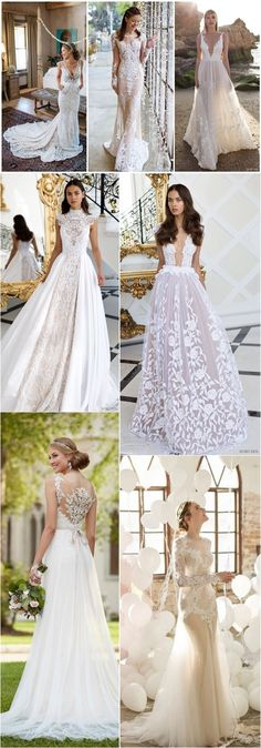 Vintage Lace Bridal Dresses and Wedding Gowns/ http://www.deerpearlflowers.com/lace-wedding-dresses-and-gowns/3/