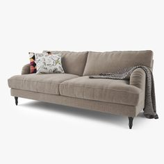 ikea stocksund grey - compact two seater sofas (Width: 154 cm, Depth: 95 cm, Height: 89 cm) and armchairs (Width: 92 cm, Depth: 95 cm, Height: 89 cm) - small unobtrusive arms and removable covers for easy clean! Sofa Seats, Sofa Chair, Couch, Ikea Sofa, Ikea Furniture, Stocksund Sofa, Living Room Sofa, Home Living Room, Ikea Bank