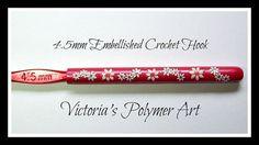 4.5 mm Embellished Crochet Hook by VictoriasPolymerArt on Etsy, £4.50