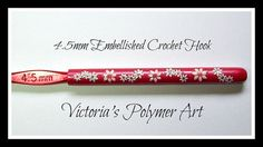 4.5 mm Embellished Crochet Hook by VictoriasPolymerArt on Etsy, £4.50