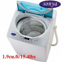 Wash Rooms: Sonya Compact Portable Apartment Small Washing Machine Washer  1.9cuft./15.4