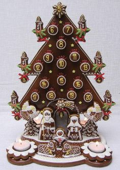 """""""Gingerbread Art"""" -- Click through for a collection of stunning gingerbread Advent calendars, Advent wreaths and logs, and Nativity scenes. No instructions, just jaw-dropping photos."""