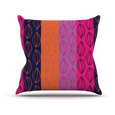 Kess InHouse Anneline Sophia Tropical Seeds Pink Orange Indoor/Outdoor Throw Pillow - AS1015AOP02
