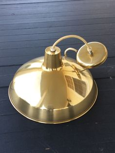 Vintage Gold Industrial Ceiling Light Fixture by YellowHouseDecor